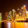 Stock Photo: Singapore city skyline at night