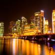 Singapore city skyline at night — Stock Photo