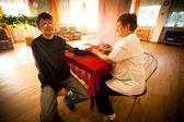 健康中心的养老金领取者和残疾人士社会服务中的天 — 图库照片