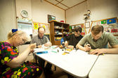 Day of Health in Center of social services for pensioners and disabled — Stock Photo
