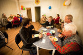Day of Health in Center of social services for pensioners and the disabled — Stock Photo