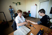 Dag van gezondheid in midden van sociale diensten voor gepensioneerden en gehandicapten — Stockfoto