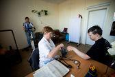 Día de la salud en el centro de servicios sociales para jubilados y las personas con discapacidad — Foto de Stock