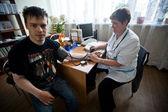 Dia da saúde no centro de serviços sociais para os reformados e pessoas com deficiência — Foto Stock