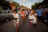 Melasti Ritual is performed before Nyepi — Stockfoto