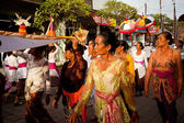 Melasti Ritual is performed before Nyepi — ストック写真