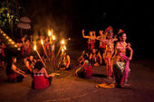Women Kecak Fire Dance — Stock Photo