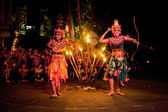 Women Kecak Fire Dance — Stockfoto
