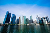 Skyline of Singapore business district Marina Bay. — Stock Photo