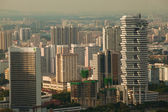 New modern buildings near to the historical centre of Singapore. — Stockfoto