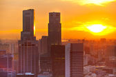 View of Singapore in the evening at sunset — Foto Stock