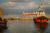 Sea port of Batumi, Georgia. — Stock Photo