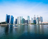 Skyline of Singapore business district, Singapore — Foto de Stock