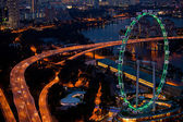 Singapore, in the night time — Stock Photo