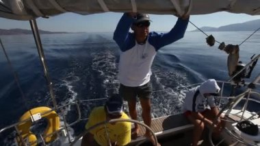 Sailing regatta Viva Greece 2012 — Stock Video