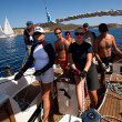 Unidentified sailor participates in sailing regatta Sail & Fun Trophy 2012 — Photo