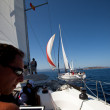 "Unidentified sailor participates in sailing regatta ""Viva Greece 2012"" — Stockfoto"