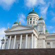 Cathedral on Senate Square in Helsinki, Finland. - Stock Photo
