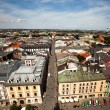 Kracow bird's-eye view, Poland. — Stock Photo