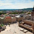 View of the old town of Cracow, old Sukiennice, Poland. World Heritage Site by UNESCO. — Stock Photo