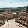 View of the old town of Cracow, old Sukiennice, Poland. World Heritage Site by UNESCO. — Stock Photo #13749767