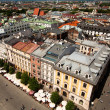View of the old town of Cracow, old Sukiennice in Poland. — Stock Photo