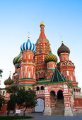 St Basil's Cathedral in Red Square on Moscow, Russia. — Stock Photo
