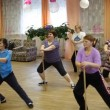 Stock Video: Fitness training for elderly and disabled