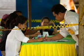 Borgmästar valet på koh chang — Stockfoto