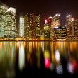 Singapore business district in the night time — Stock Photo