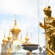 Стоковое фото: Grand cascade fountains at Peterhof palace