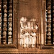 Stock Photo: Apsaras - khmer stone carving in Angkor Wat, Cambodia