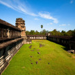 View of Angkor Thom temple complex in Angkor Wat, Cambodia — ストック写真