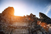 Angkor Wat is the largest Hindu temple complex and the largest religious monument in the world — Stock Photo
