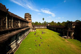 View of Angkor Thom temple complex in Angkor Wat, Cambodia — Stock Photo