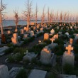 Abandoned cemetery in epecuen (Dead City), Argentina. - Stock Photo