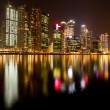 City of Singapore at night, Marina Bay with water reflections. — Stock Photo
