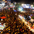 CHIANGMAI,THAILAND - DEC 31: gathered in the city center on the countdown during the New Year celebrations - ストック写真