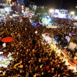CHIANGMAI,THAILAND - DEC 31: gathered in the city center on the countdown during the New Year celebrations — Stock Photo