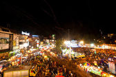 CHIANGMAI,THAILAND - DEC 31: gathered in the city center on the countdown during the New Year celebrations — Foto de Stock