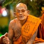 KO CHANG, THAILAND - NOV 28: Buddhist lama blesses participants Loy Krathong festival, Nov 28, 2012 on Chang, Thailand. — Stock Photo #19048831