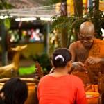 KO CHANG, THAILAND - NOV 28: Buddhist lama blesses participants Loy Krathong festival, Nov 28, 2012 on Chang, Thailand. — Stock Photo #19049501