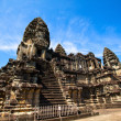 Angkor Wat is the largest Hindu temple complex and the largest religious monument in the world, It has become a symbol of Cambodia — Stock Photo