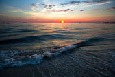 Nature composition - Sunset over ocean. — Stock Photo