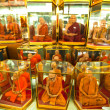 BANGKOK - APR 24: Shop windows with mannequins monks at Chatuchak Weekend - Stock Photo