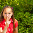 Stock Photo: Shh. secret