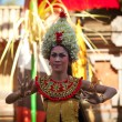 BALI, INDONESIA - APRIL 9: Balinese girl posing for turists before a classic national Balinese dance — Stock Photo #19402991