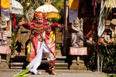 BALI, INDONESIA - APRIL 9: Balinese actors during a classic national Balinese dance Barong on April 9, 2012 on Bali, Indonesia. Barong is very popular cultural show on Bali. — Stock Photo