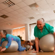 PODPOROZHYE, RUSSIA - MAY 4: Day of Health in Center of social services for pensioners and disabled Otrada — ストック写真