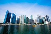 Skyline of Singapore business district (Singapore) — Stockfoto